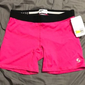 Never worn soffe athletic bright pink shorts
